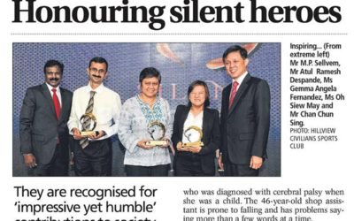 Honouring silent heroes – newspaper article
