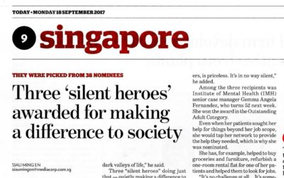 Three 'silent heroes' awarded for making a difference to society- newspaper article